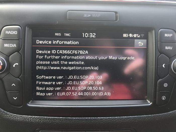 Ceed GT-Line Head Unit update - Kia Owners Club Forums
